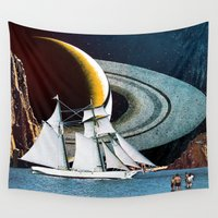 sailing Wall Tapestries featuring Orbital Sailing by Eugenia Loli