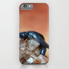 Metallic Blue and Black Dragon on Quartz Crystal Slim Case iPhone 6s