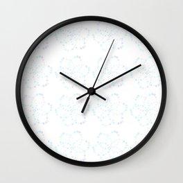 Blue Atomic Stars Wall Clock