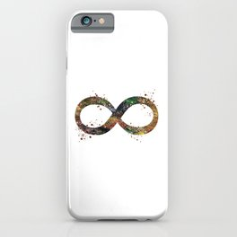 Infinity Symbol Art Colorful Ouroboros Watercolor Art Timeless Gift Meditation Art iPhone Case