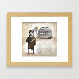Alferd Packer's Uneaten Corn Dog Framed Art Print