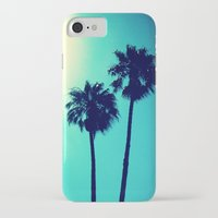 palm trees iPhone & iPod Cases featuring Palm Trees by Derek Fleener