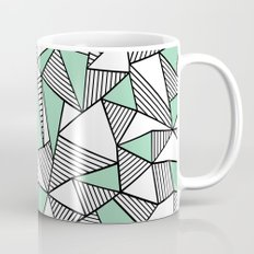Abstraction Lines with Mint Blocks Mug