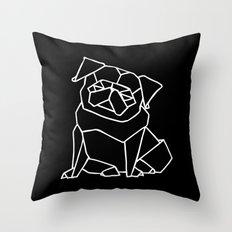 Origami Pug Throw Pillow