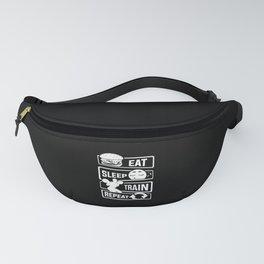 Eat Sleep Train Repeat - Fitness Bodybuilder Power Fanny Pack