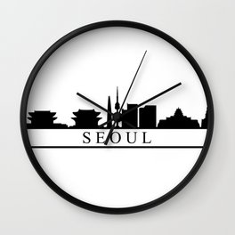 seoul skyline Wall Clock