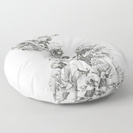 Flower Study Floor Pillow