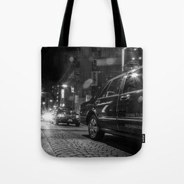 A Row of Tokyo Taxis Tote Bag