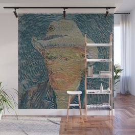 Van Gogh's self portrait - Der Roj study Wall Mural