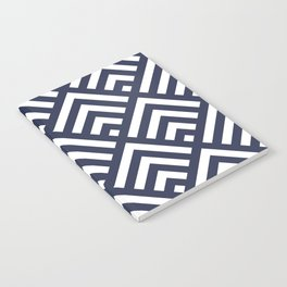 Navy Blue geometric art deco diamond pattern Notebook