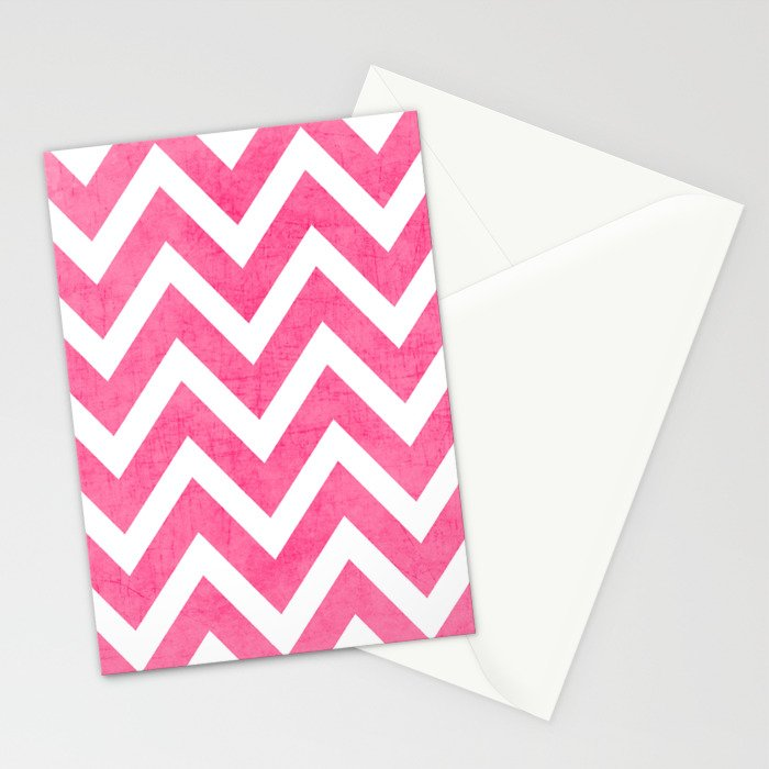 pink chevron Stationery Cards