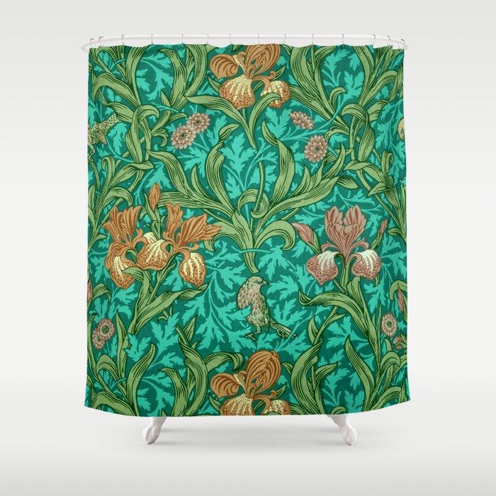 """William Morris """"Iris"""" 2. Shower Curtain"""