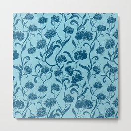 Fleur Bleue Metal Print