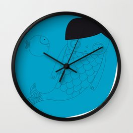 sirenita  Wall Clock
