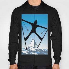 Zermatt,Valais,Suisse,Ski Poster Hoody