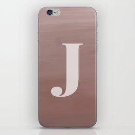 J in case iPhone Skin