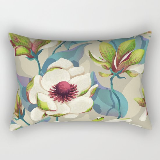 magnolia bloom - vivid version Rectangular Pillow