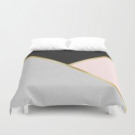Gold Modern Art IX Duvet Cover
