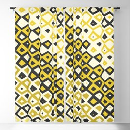 Asymmetry collection: retro shapes and colors Blackout Curtain