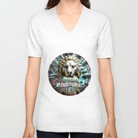 lions V-neck T-shirts featuring LIONS by infloence