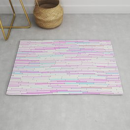 Light Pink Random Line Sections Rug