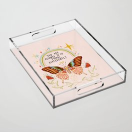 You are allowed to do things differently Acrylic Tray