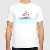 set sail on a whale White SMALL Mens Fitted Tee