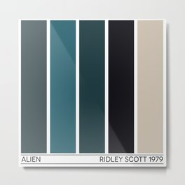 Alien - The Movie Pattern Metal Print