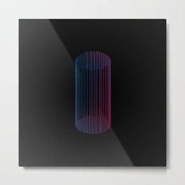 minimla rt with geometric shape Metal Print