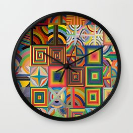 Frank Stella Montage Wall Clock