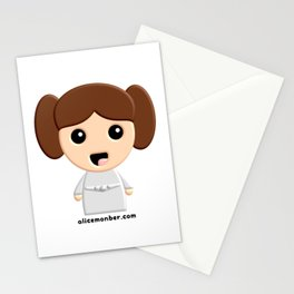 Kokeshi Star Peace Princess Stationery Cards