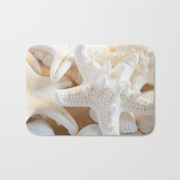 White Starfish Bath Mat
