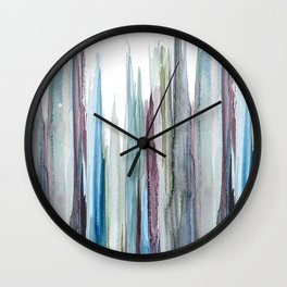 watercolor drips Wall Clock