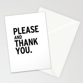 Please & Thank You (Ron Swanson) Stationery Cards