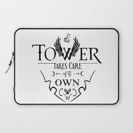 The Tower of Sorcerers Motto Laptop Sleeve