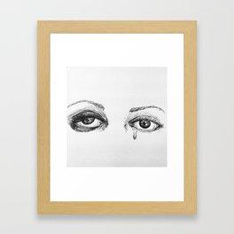 un oeil au beurre noir Framed Art Print