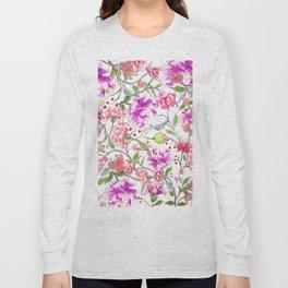 peony pattern Long Sleeve T-shirt