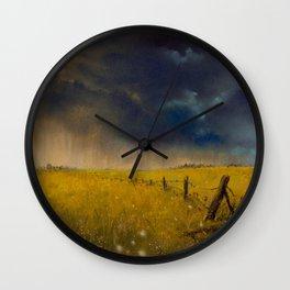 Rolling Thunder Pastel Art Print Wall Clock