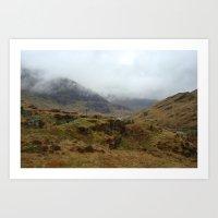 Moody Scotland Art Print