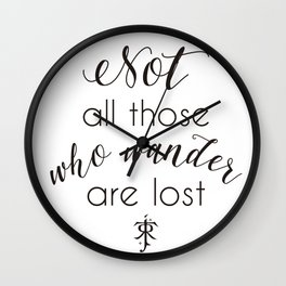 Tolkien Quote Wall Clock