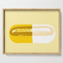 Happy Pill Yellow Serving Tray