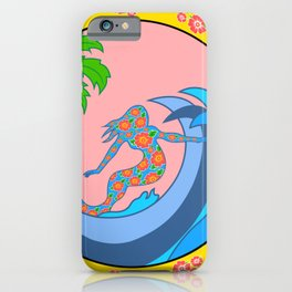 Girls Surf Too,solid color iPhone Case