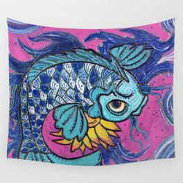 Sparkling Koi Wall Tapestry