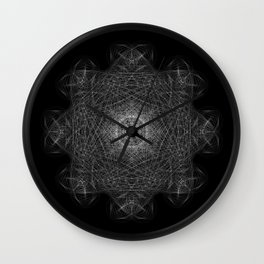 Cosmic Cymatics Mandala Wall Clock
