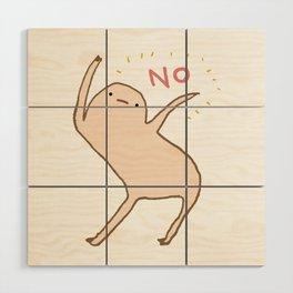 Honest Blob Says No Wood Wall Art