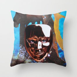 Suzie then removed her mask and caused a mighty stir Throw Pillow