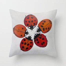 Ladybug circle Throw Pillow