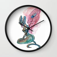 lannister Wall Clocks featuring Sea Taniwha by Ariel Ni-Wei Huang