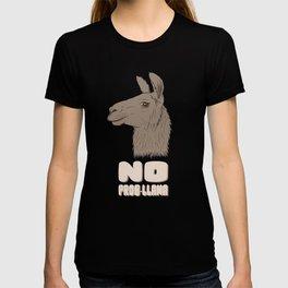 No Prob Llama Funny Llamas Alpacas Peruvian Pun T-shirt