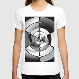 Chromed black and white T-shirt